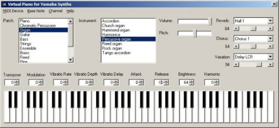 how to change midi note on td50